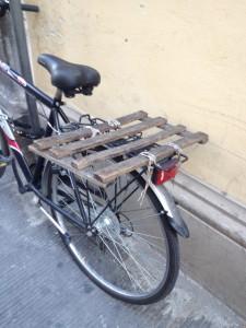Makeshift rear rack